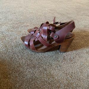 Zara Shoes - Zara brown wooden heels